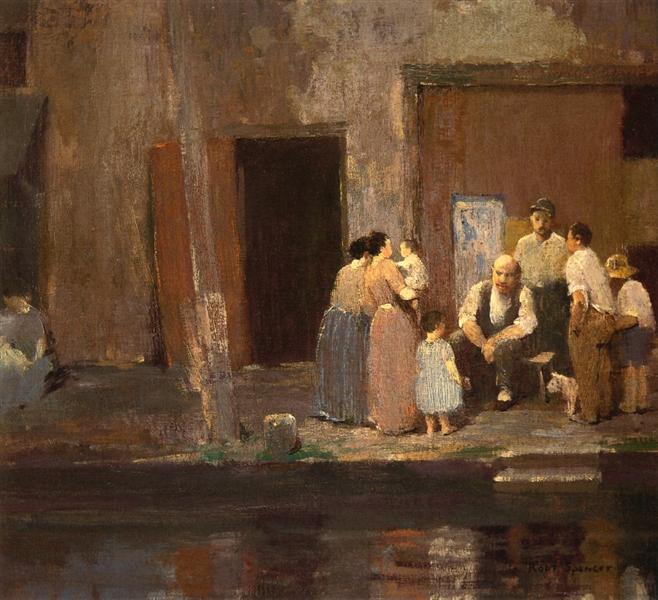 Near the Blacksmith's Shop, 1914 - Robert Spencer