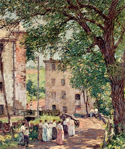 One O'Clock Break, 1913 - Robert Spencer