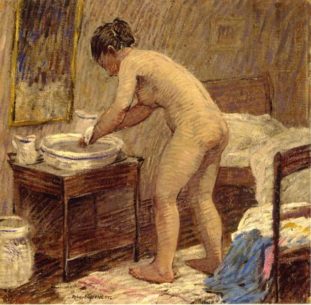The Bath, 1918 - Robert Spencer