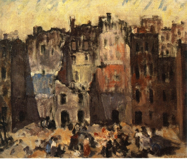 Torn Out Buildings, 1927