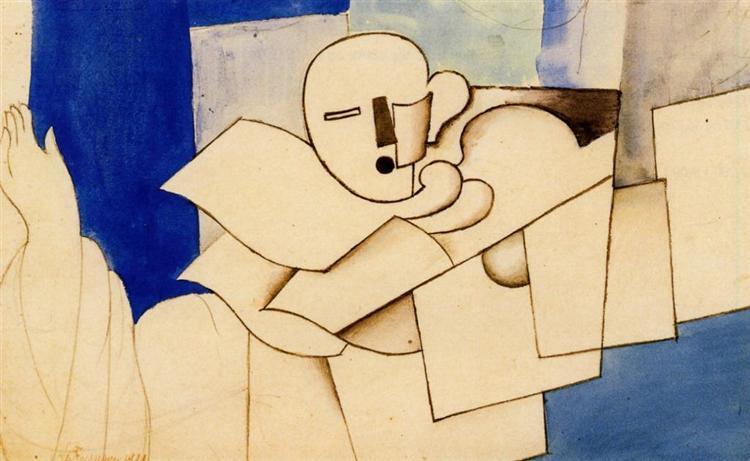 Study for 'Le Pierrot', 1921 - Roger de La Fresnaye