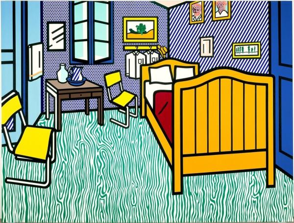 Bedroom at Arles, 1992 - Рой Ліхтеншетейн