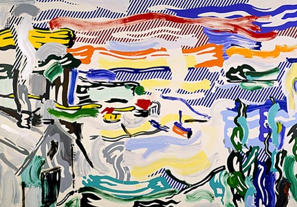 Coast village, 1987 - Roy Lichtenstein
