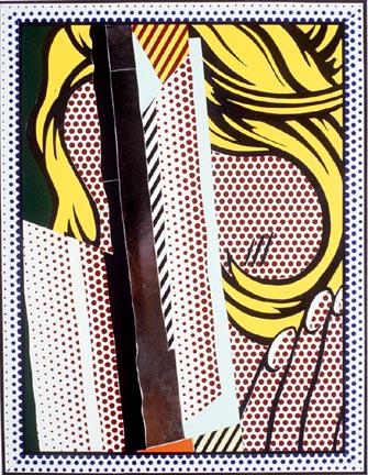 Collage for reflections on hair, 1989 - Рой Ліхтеншетейн