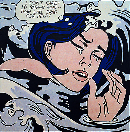 Drowning girl, 1963 - Roy Lichtenstein