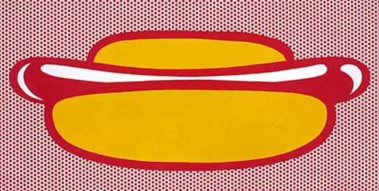 Hot dog, 1964 - Roy Lichtenstein