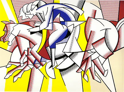 The red horseman, 1974 - Roy Lichtenstein