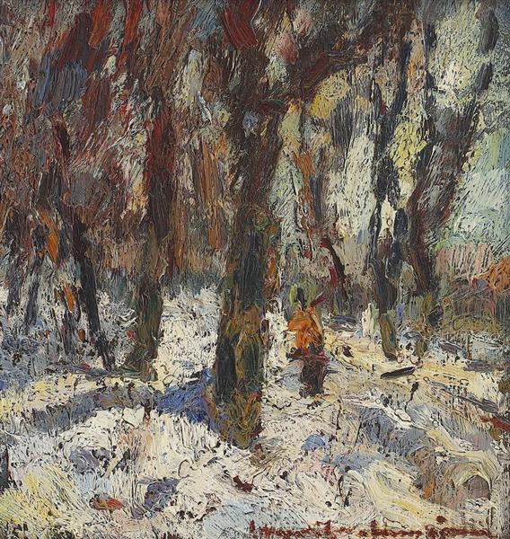 Winter Path Through the Forest, 1960 - Rudolf Schweitzer-Cumpana