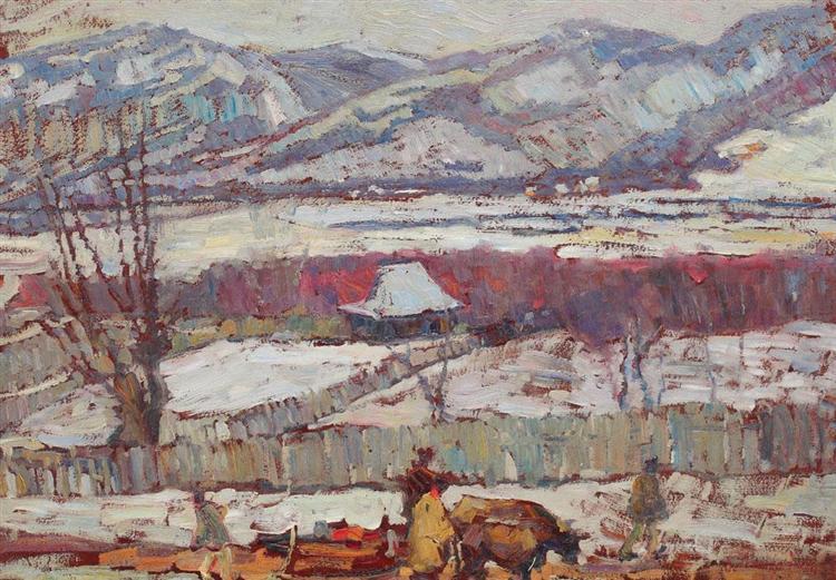 Prahova Valley Landscape, 1926 - Rudolf Schweitzer-Cumpana