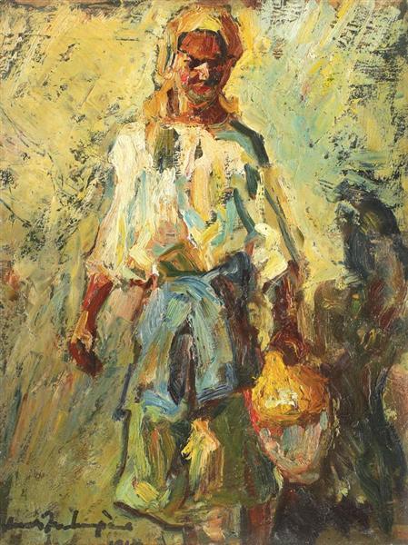 Peasant Woman with Jar, 1940 - Rudolf Schweitzer-Cumpana
