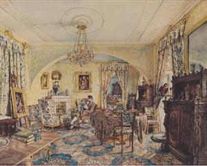 Count Casimir Batthyány in his saloon at Castle Siklós - Rudolf von Alt