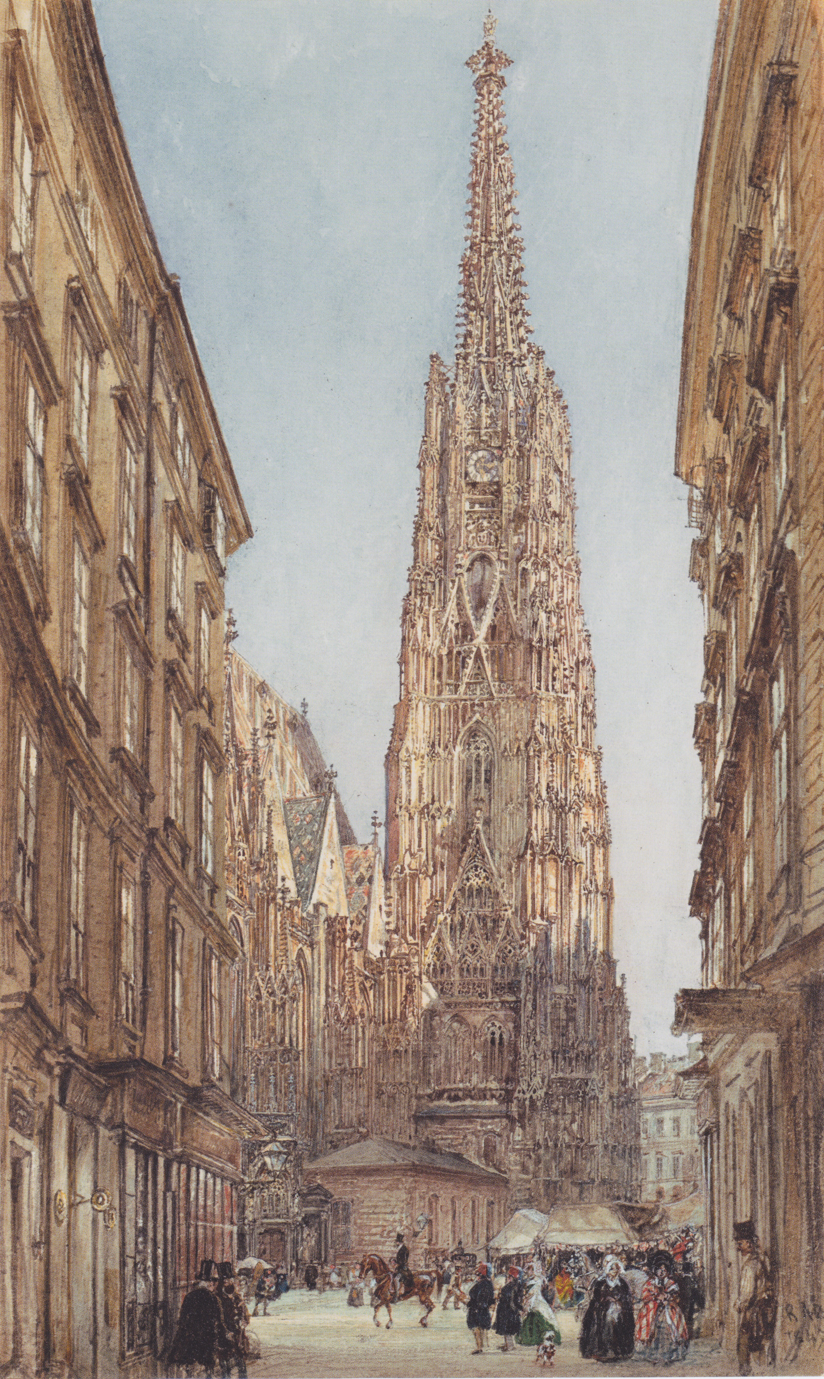 The St. Stephen's Cathedral in Vienna, 1847