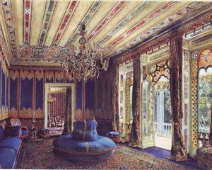 The Turkish Salon, Villa Hügel, Hietzing, Vienna - Rudolf von Alt