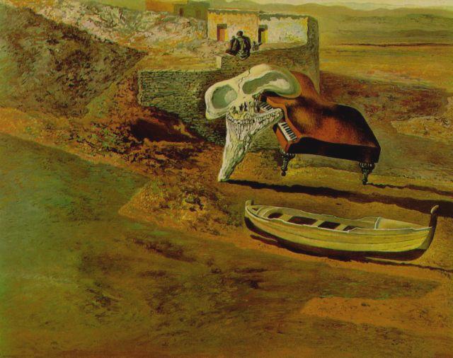 Atmospheric Skull Sodomizing a Grand Piano, 1934 - Salvador Dali