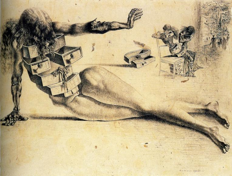 Image Result For Salvador Dali Chest Of Drawers