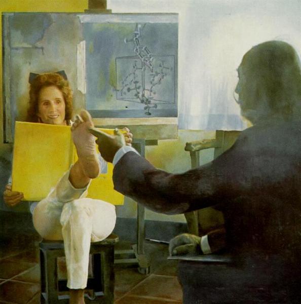 Gala's Foot (right panel), 1974 - Salvador Dali - WikiArt.org