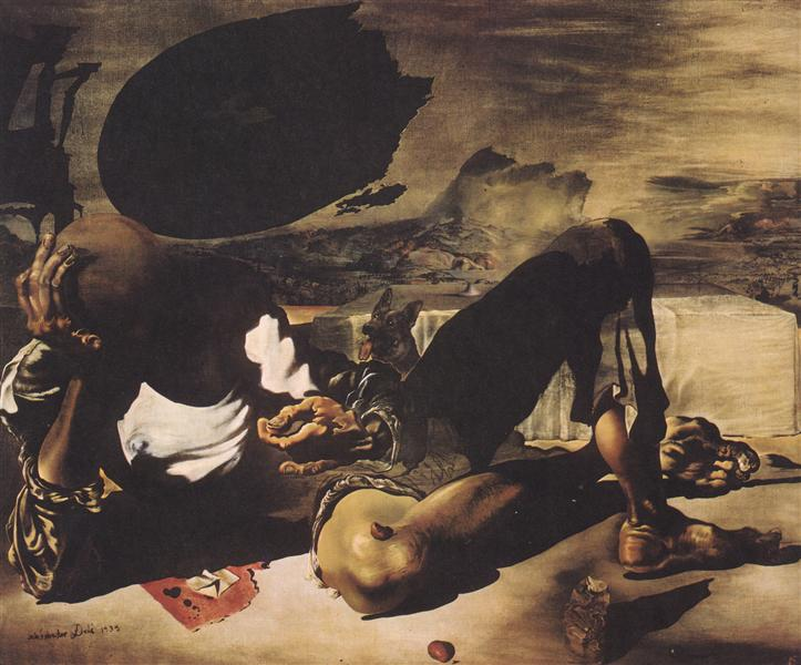 Philosopher Illuminated by the Light of the Moon and the Setting Sun, 1939  - Salvador Dali - WikiArt.org