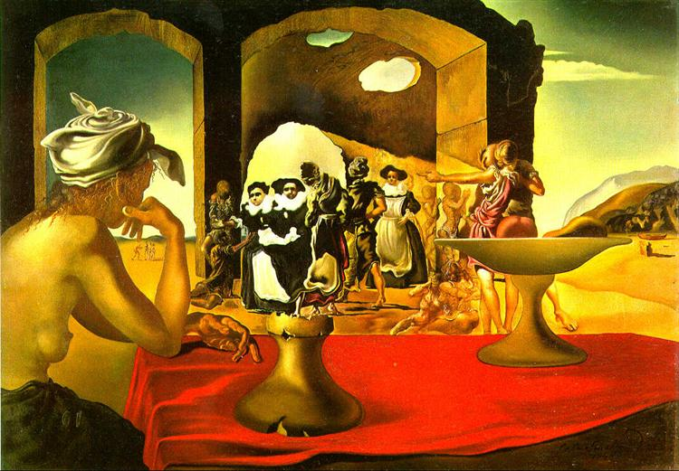 Slave Market with the Disappearing Bust of Voltaire, 1940 - Salvador Dali