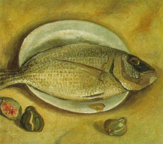 Still life fish 1922 salvador dali for Dali tuna fishing