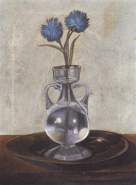 The Vase of Cornflowers, 1959 - Сальвадор Дали