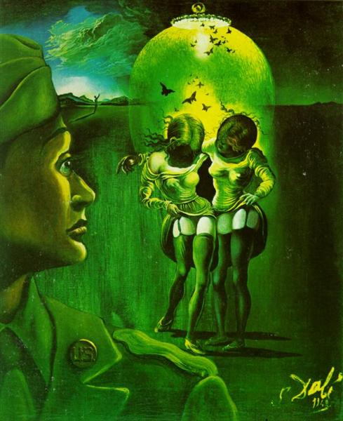 Untitled - for the campaign against venereal disease, 1942 - Salvador Dali