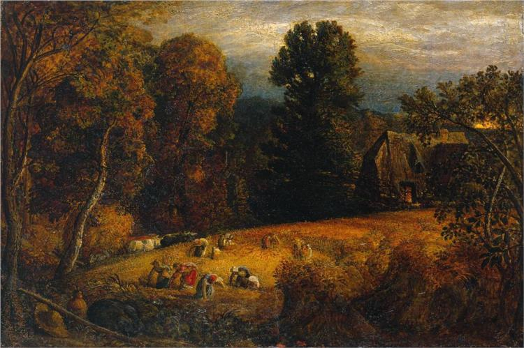 The Gleaning Field 1833 - Samuel Palmer