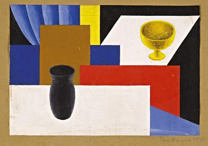 Asztali csendélet, 1924 - Sándor Bortnyik