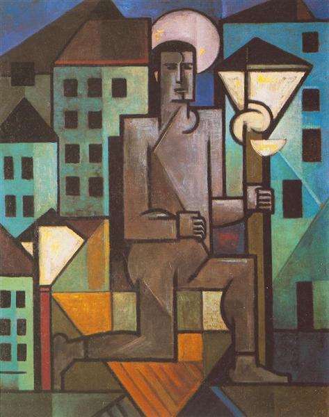 The Lamp Lighter, 1921 - Sandor Bortnyik