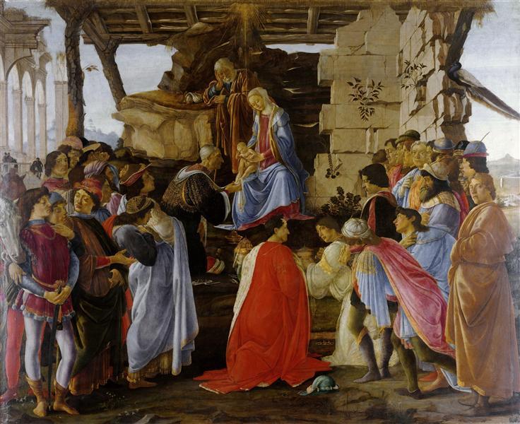 L'Adoration des mages, c.1475 - c.1476 - Sandro Botticelli