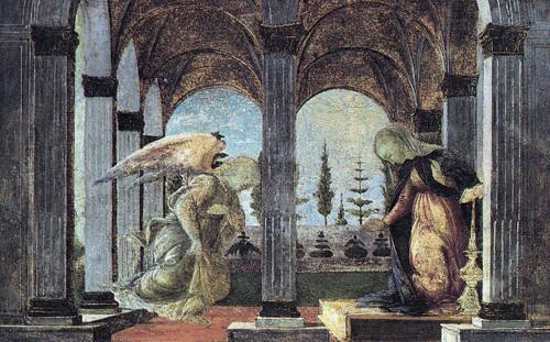 Annunciation, 1490 - 1500 - Sandro Botticelli