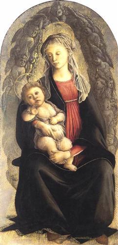 Madonna in Glory with Seraphim - Sandro Botticelli