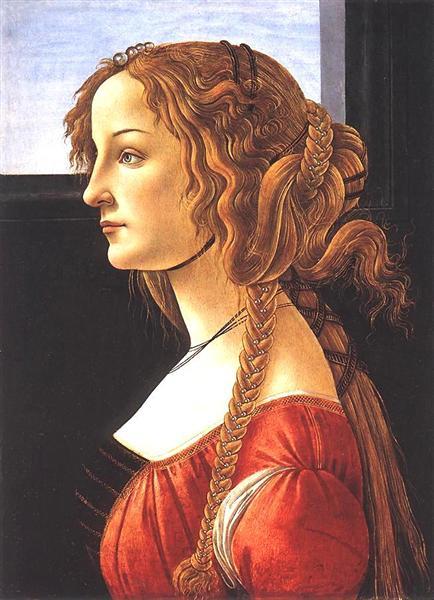 Portrait of a Young Woman, c.1480 - Sandro Botticelli