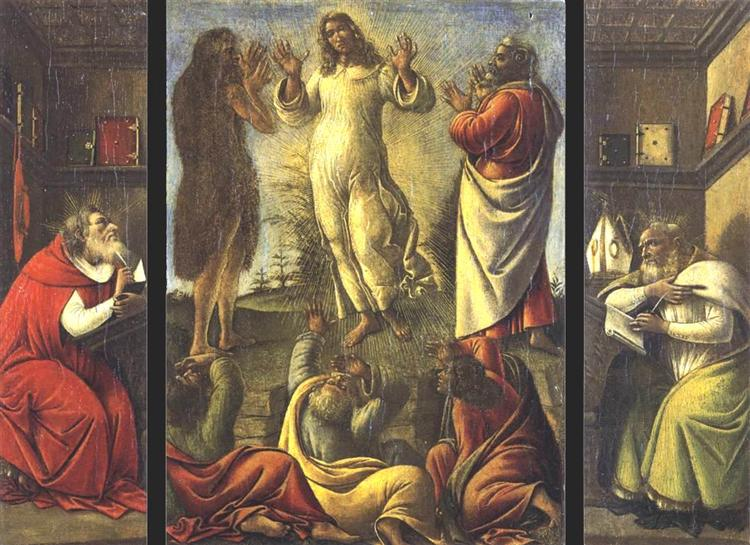 Transfiguration, St Jerome, St Augustine, 1500 - Сандро Боттічеллі