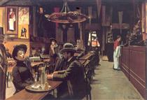 Café dos Incoerentes, Montmartre - Santiago Rusiñol