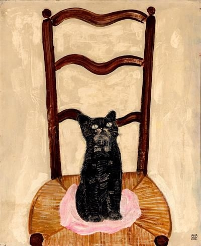 Cat on a Chair - Sanyu