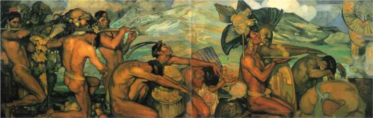 Nuestros dioses, 1915 - Saturnino Herran