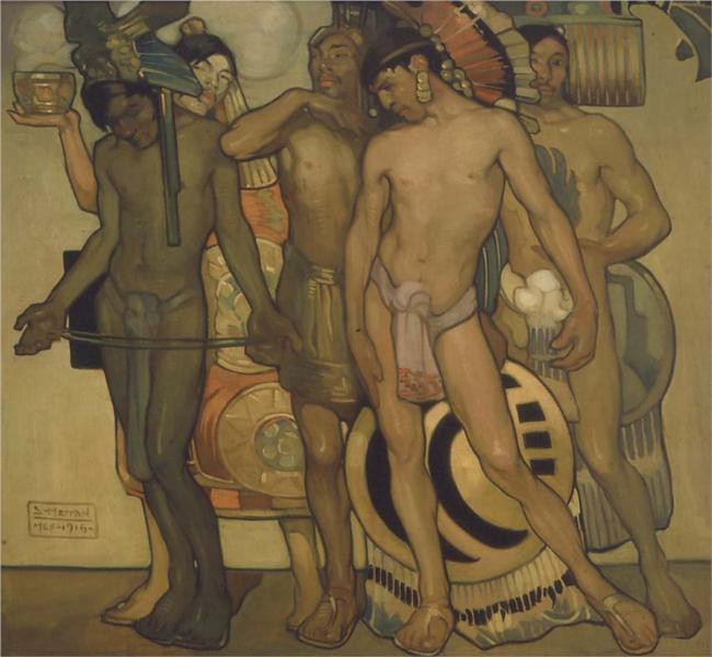 Nuestros dioses antiguos, 1916 - Saturnino Herrán Guinchard