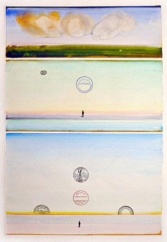 Japanese Sunset, #16, 1971 - Saul Steinberg