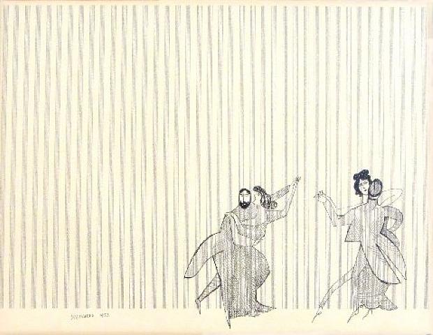 The Waltz, 1953 - Saul Steinberg