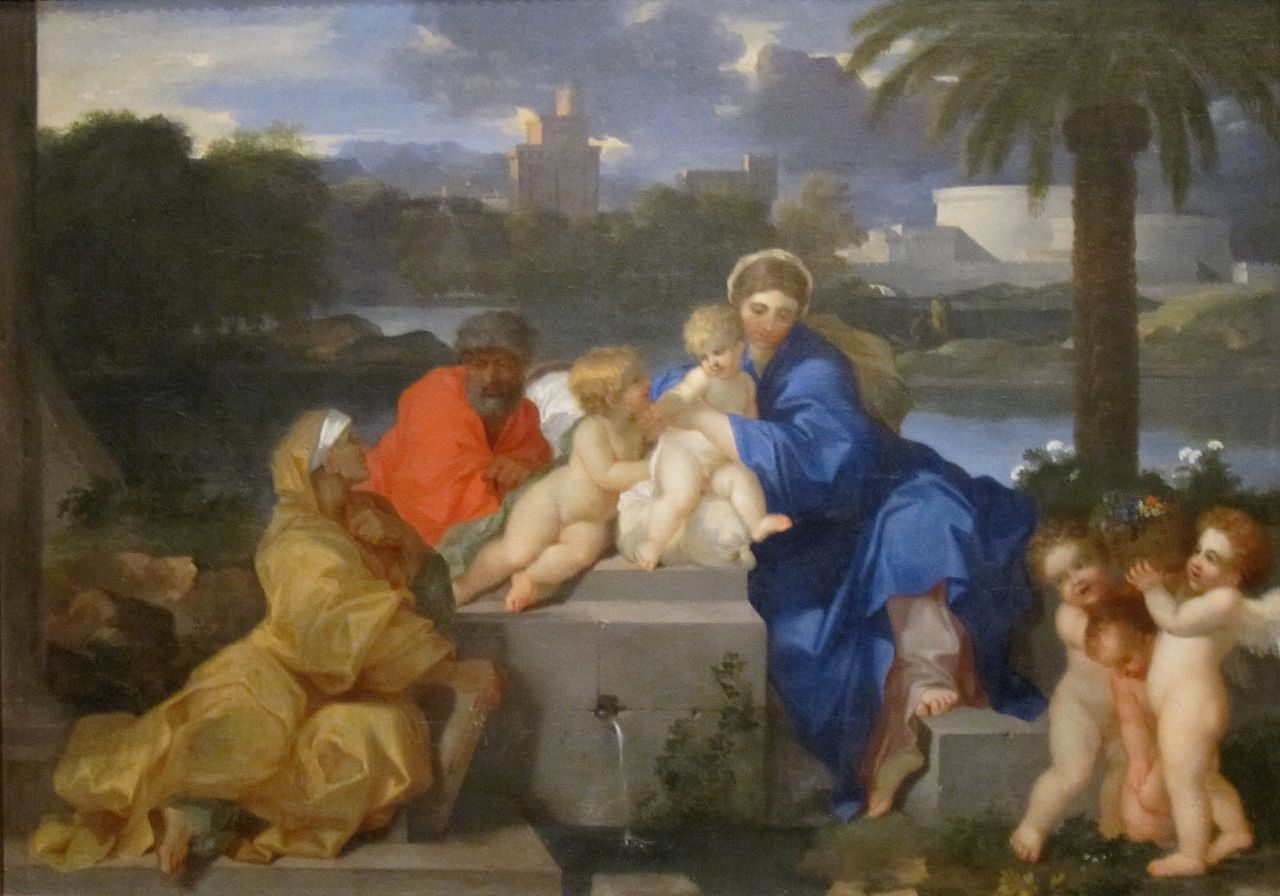 The Holy Family with Saints Elizabeth and the Infant John the Baptist, 1665