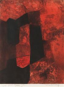 Composition brune et rouge - Серж Поляков