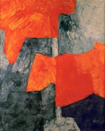 Composition grise et rouge - Серж Поляков