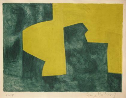 Composition verte et jaune, 1966 - Serge Poliakoff