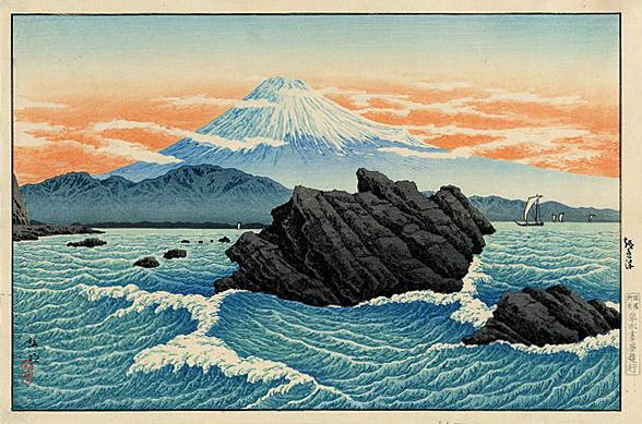 Fuji from Okitsu, 1929 - Shotei Takahashi