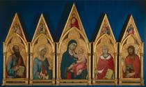 Virgin and Child with Saints (Boston Polyptych) - Simone Martini