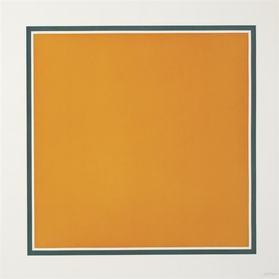 A Square With Colors Superimposed Within a Border, 1991 - Sol LeWitt