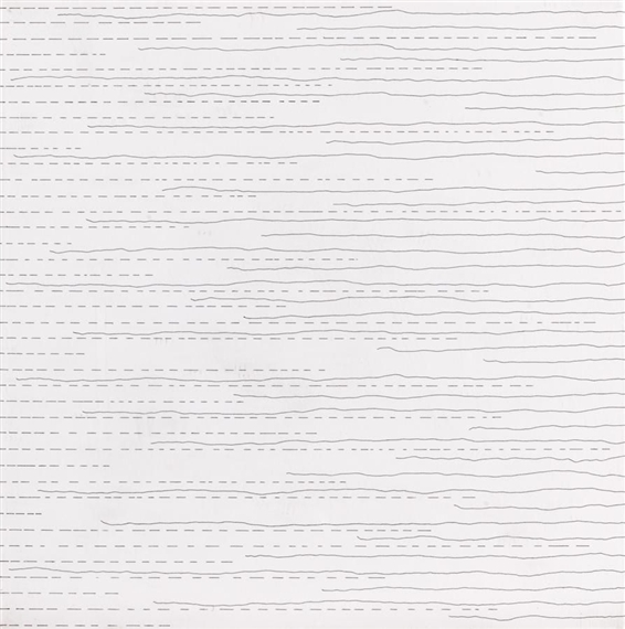 Alternate Not-Straight Lines (From the Right Side) and Broken Lines (From the Left Side) of Random Length, 1972 - Sol LeWitt