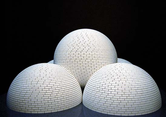 Model for Brick Structure (four domes and a sphere), 2003 - Sol LeWitt