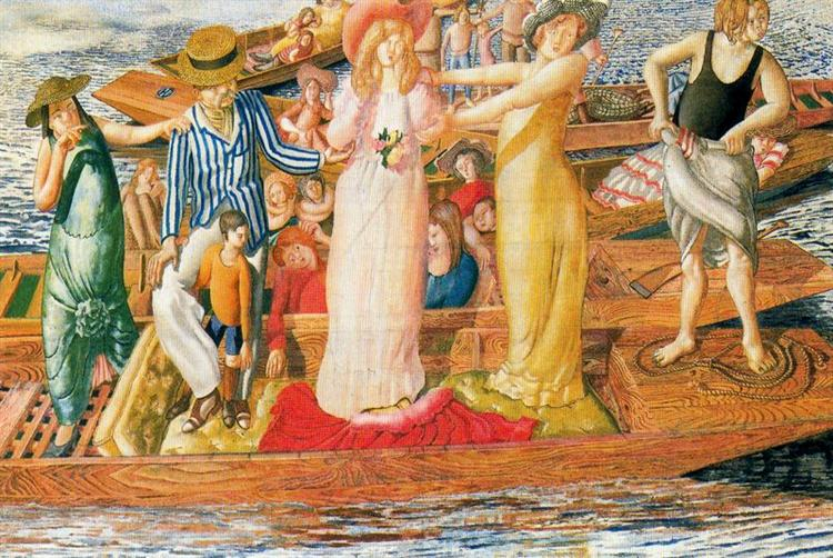 Christ Preaching at Cookam Regatta, 1954 - Stanley Spencer