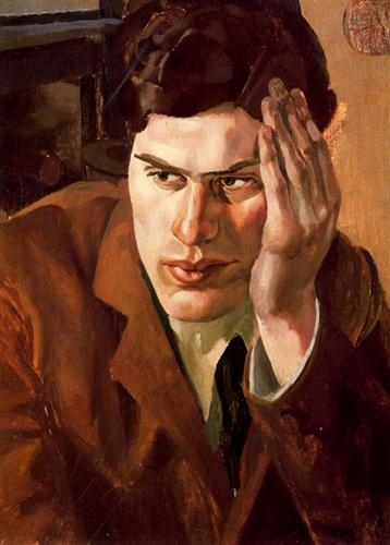 Portrait of Richar Carline - Stanley Spencer